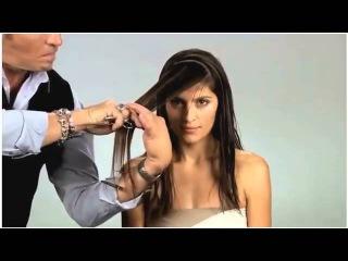 Стрижка каскад на длинные волосы. Простая женская стрижка