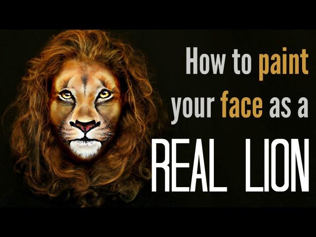 Lion Makeup Face Painting Tutorial