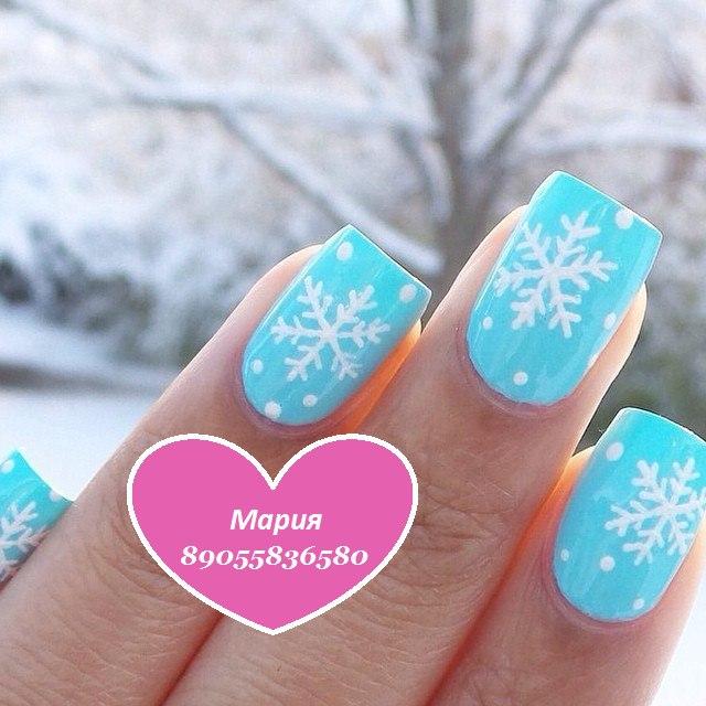 Новогодний дизайн ногтей с гель лаком фото