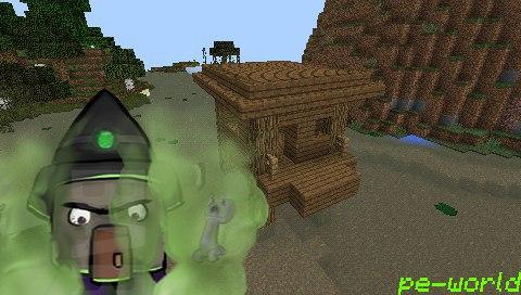 Сид на домик ведьмы для Minecraft PE 0.14