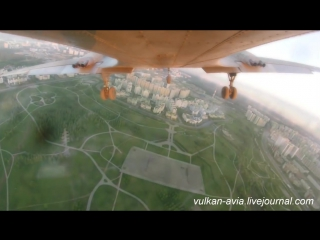 Первый полёт Ил-14Т Голубая мечта, Тушино