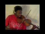 Парень играет на скрипке мелодии из известных песен (  Eric Stanley )