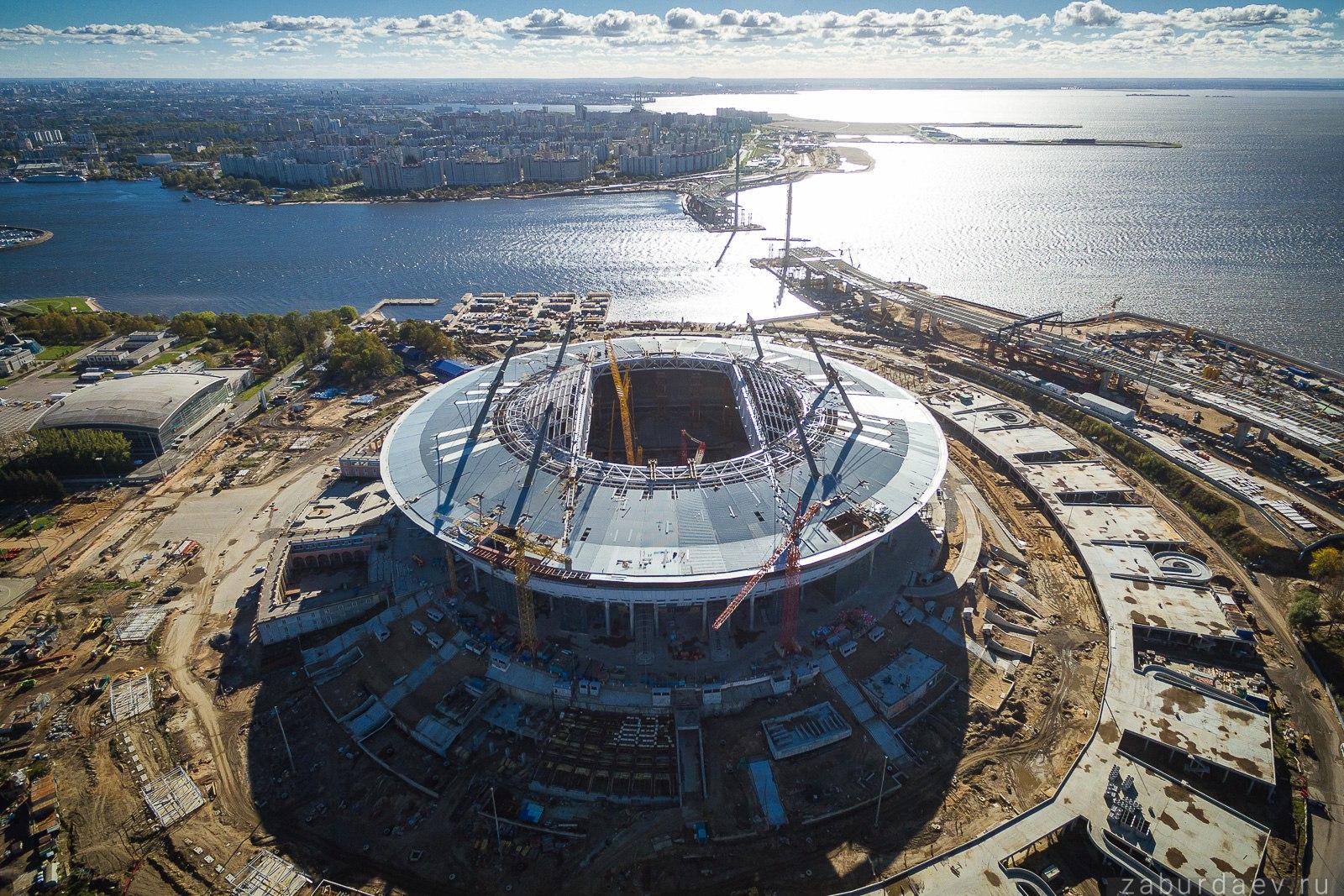 Строительство стадиона Газпром (Зенит) Арена