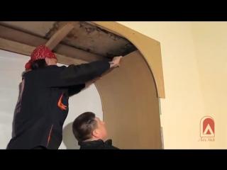Установка арки Палермо шпон дуба лак по индивидуальным размерам
