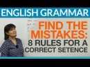 8 English Sentences Find the Mistakes