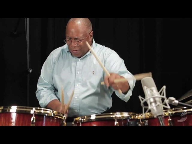 Billy Cobham Drum Solo in the Evans Studio