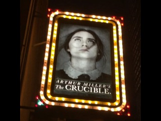 Kristen on Instagram: The Crucible did NOT disappoint me this evening! Except for the fact that at times the male actors seemed as though they were just talking