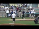 Tyler Hoechlin Dylan O'Brien of 'Teen Wolf' Throw Out Dodger Stadium First Pitch - Nice Catch!