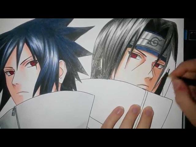 Speed Drawing - Uchiha Sasuke and Uchiha Itachi (Naruto)