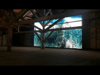 Clifford Ross, Wave Cathedral, MASS MoCA, 2015