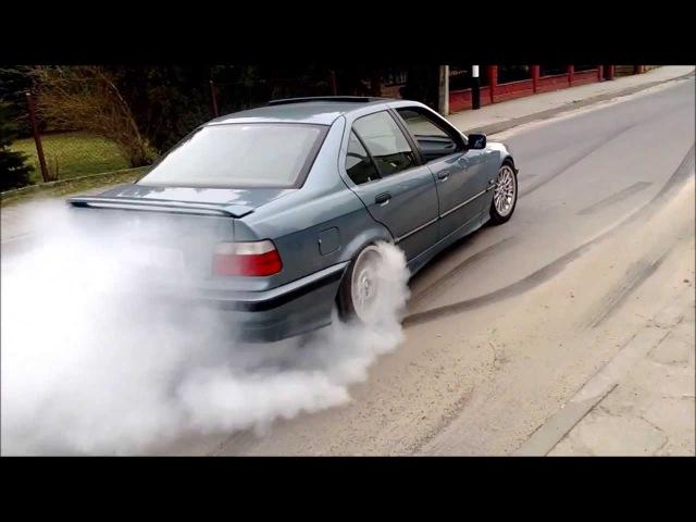 Hamownia Leżajsk: BMW e36 325I palenie gumy - V-Tuning.pl