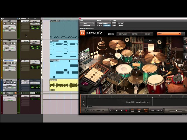 EZkeys EZdrummer 2: Write custom pieces