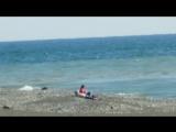Набережная и пляж в Адлере