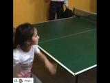 #Repost @rfdeti ・・・ А вы умеете ТАК играть в настольный тенис как маленькая Сара из интерната НАРТАН ? В свои 7 лет она обыгрыва