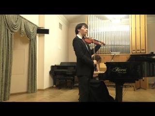 К. Сен-Санс – Э. Изаи Этюд в форме вальса Даниил Коган (скрипка) Анна Тамаркина (фортепиано)