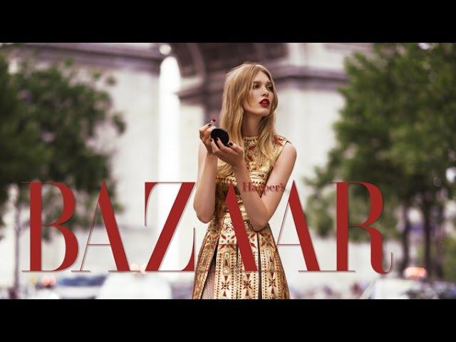 Irina Nikolaeva in Valentino Haute Couture by Benjamin Kanarek for Harper's Bazaar