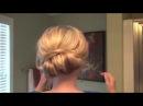 Причёска для волос средней длины.