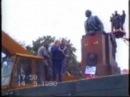 Демонтаж пам'ятника Лєніну у Львові (1990 рік)