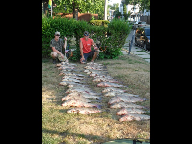 Bowfishing 523 pounds of fish in 4hours
