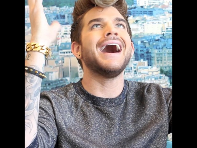 "VIVIEN ✨ on Instagram: "" chasingtheoriginalhigh @adamlambert my ❤️ is a 👻🌆 half english half hungarian ! It is a hard language! 😊 interview…"""