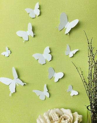 3d бабочки на стену фото, бабочки наклейки на стену фото, декоративные бабочки фото