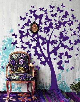наклейки на стену фото, дерево на стене фото, дерево с бабочками фото, наклейка на стену дерево фото, дерево из бабочек фото