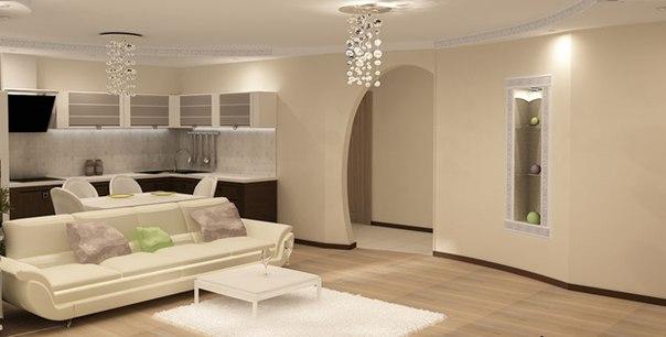 общее пространство фото, объединённый интерьер фото, гостиная с кухней фото, гостиная совмещённая с кухней фото