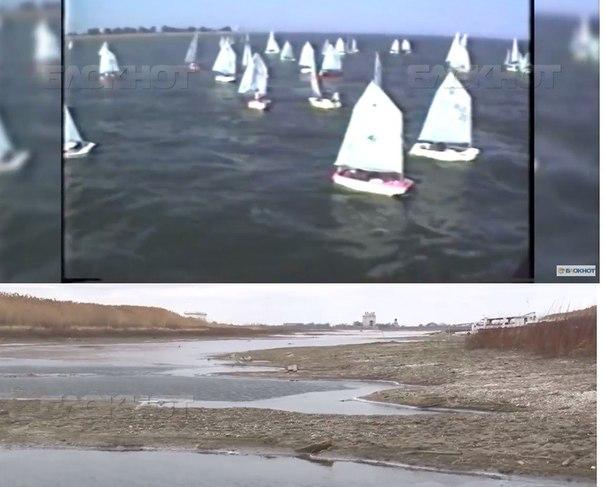 Волгодонск прежде и теперь — видеорепортаж о том, каким было побережье Цимлянского моря и каким стало