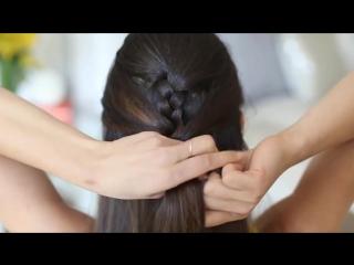 Прическа .Плетение французской косы самой себе. Своими руками видео урок