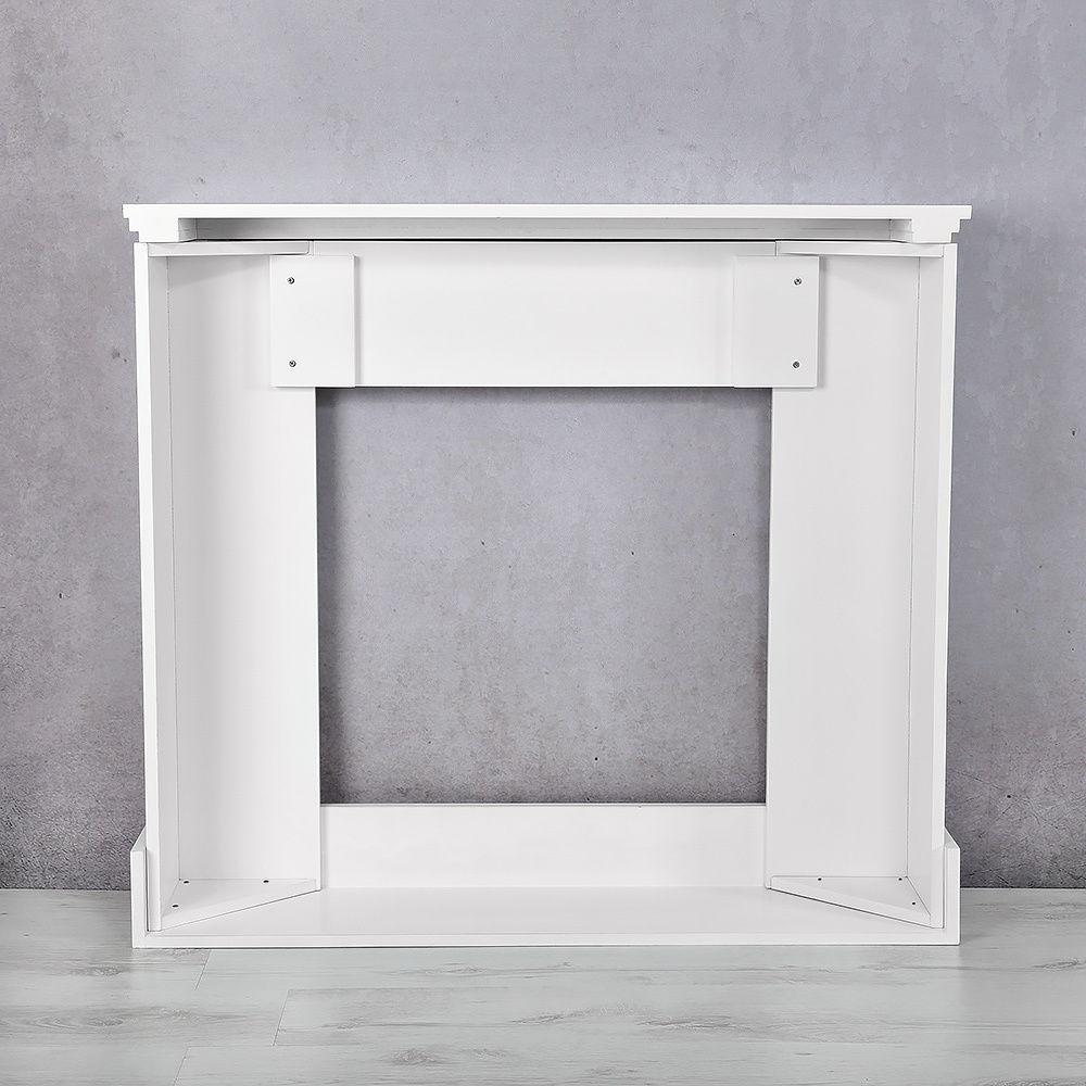 Chimenea decorativa aparador mueble de decoraci n - Chimenea blanca decorativa ...