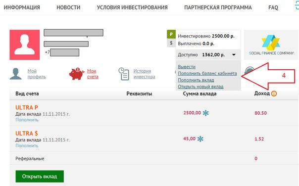 SOCIAL FINANCE COMPANY обновили страницу личного кабинета, добавив нес