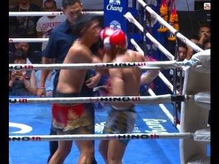Muay Thai Fight-Daoden vs Panrit (ดาวเด่น vs พันฤทธิ์), Lumpini Stadium, Bangkok, 8.3.16