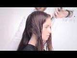 Красивая стрижка на длинные волосы без челки