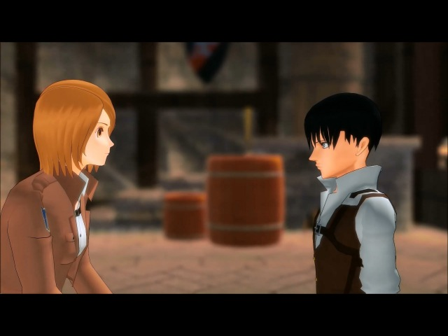 MMD SNK What Should I Call You Petra x Levi Rivetra Attack On Titan funny meme animation