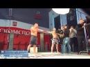 Федор Емельяненко и Владимир Минеев на съемках для МАТЧ ТВ