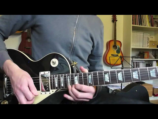 Jamming to my Slash style backing track Gibson Les Paul and Marshall JVM205c