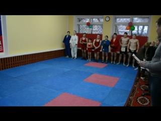 Показательные по греко-римской борьбе, самбо и сумо.