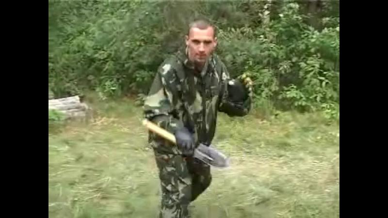 Боевое применение малой саперной лопатки
