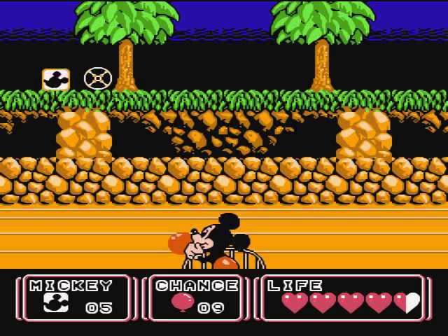 Mickey Mouse 3 Yume Fuusen Dendy NES прохождение