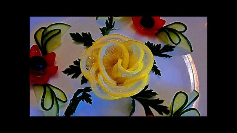 7 ЛАЙФХАКОВ КАК КРАСИВО НАРЕЗАТЬ ЛИМОН Быстро и легко Как красиво оформить стол