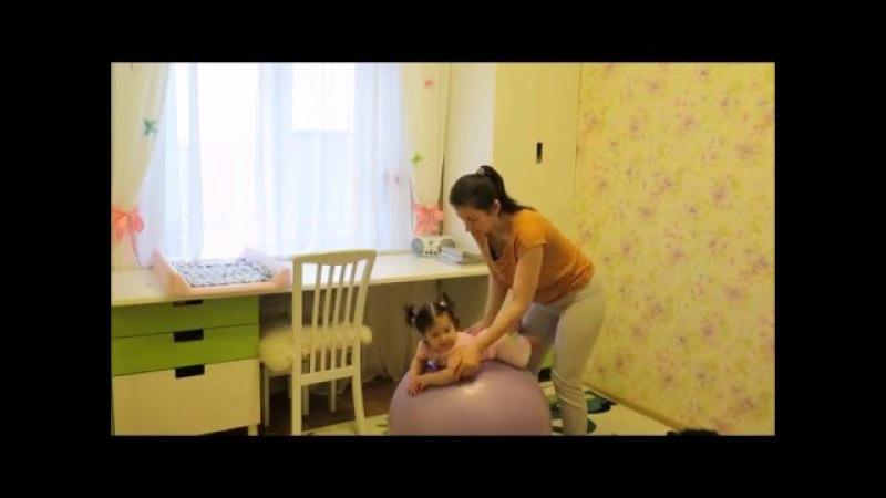 Фитбол Упражнения для грудничков на мяче гимнастика для малышей Часть 2