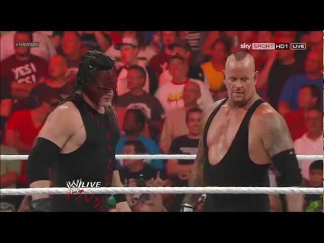 Kane Undertaker on RAW 1000 23.07.2012