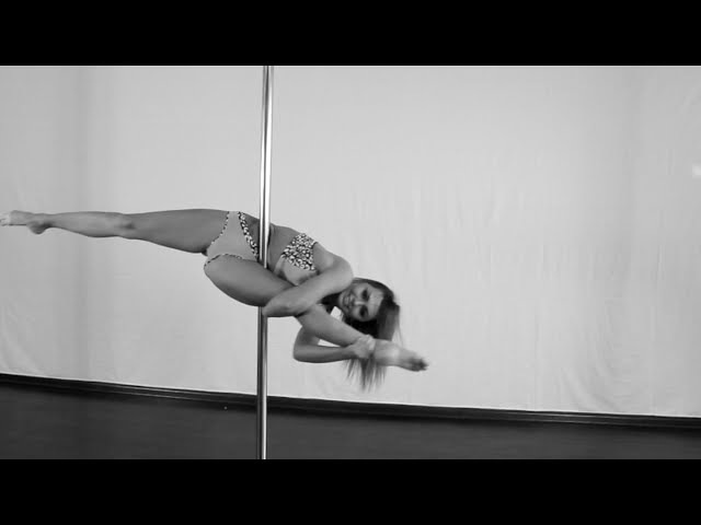 How to pole dance trick Bunny split - pole dance tutorial /Уроки pole dance - шпагат Банни