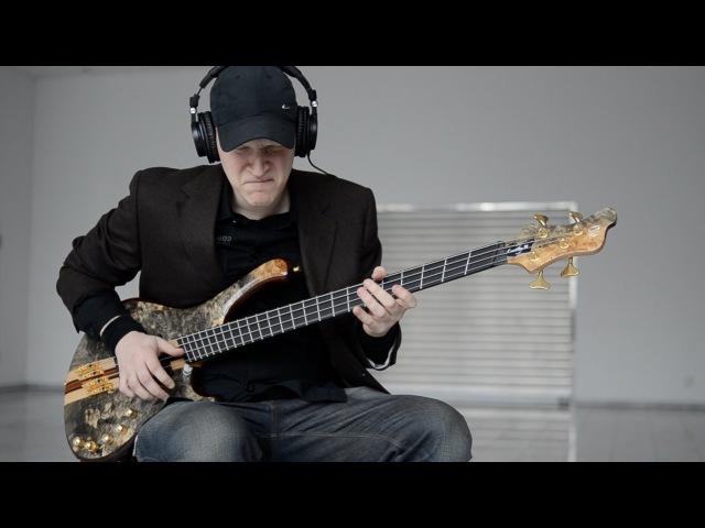 MAYONES CUSTOM PI-2 V-FRET BUCKEYE BURL BASS | BassTheWorld.com