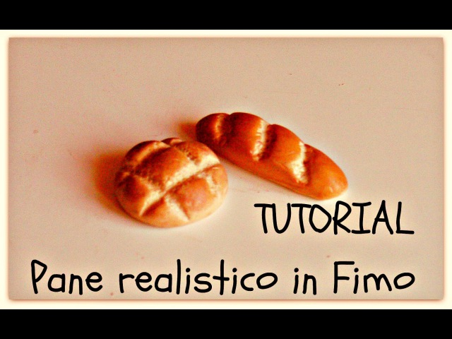 Tutorial Fimo Pane Realistico ❤ Miniature Bread Clay (english sub)