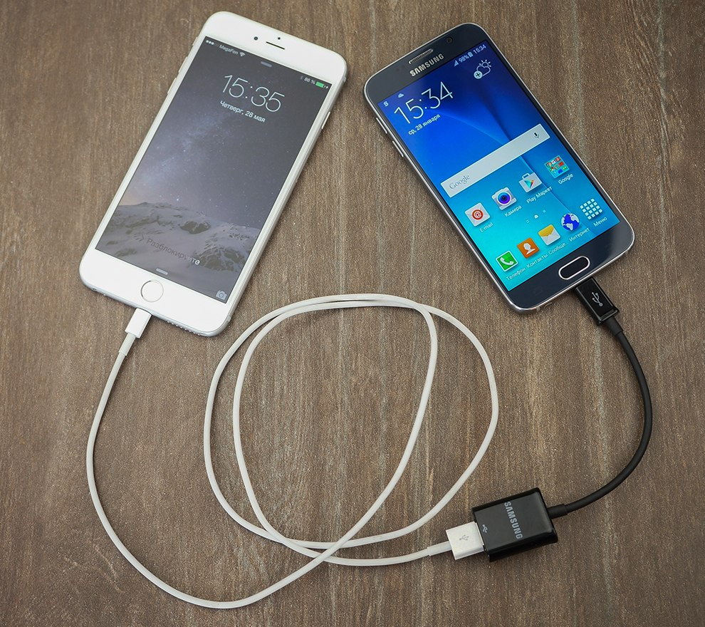 Кабель для перехода с iPhone на Samsung