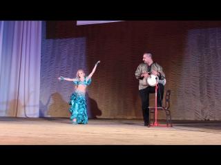 Гейдарова Валерия импровизация табла соло – под живой аккомпанемент Оссамы Шахина,,,,,,Студия восточных танцев
