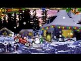 Новогодняя сказка.Дед Мороз везет подарки детям.Мультики для самых маленьких