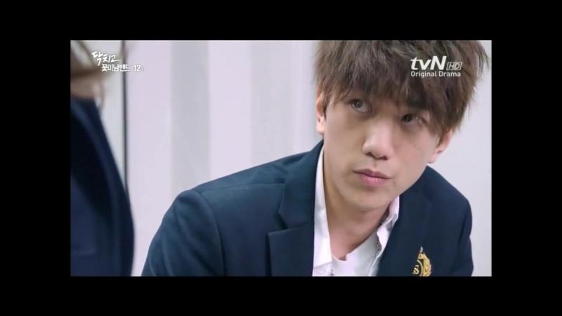Ji Hyuk (Sung Joon) and Su ah (Jo Boa) in Shut Up Flower Boy Band EP 12