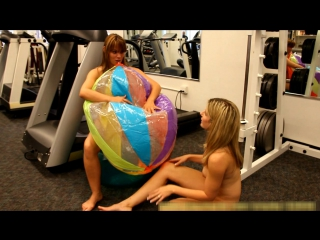 Two girls Beach Ball Blow Up (Full)
